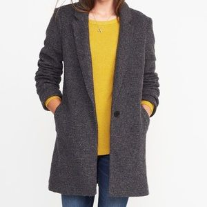 Old navy textured boucle coat